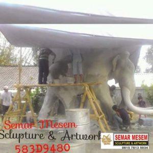Kelik Semar Mesem Patung Gajah Raksasa Cara Membuat Patung Dari Fiberglass
