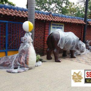Kelik Semar Mesem Patung Singa Laut Waterboom Jasa Pembuatan Patung Fiber