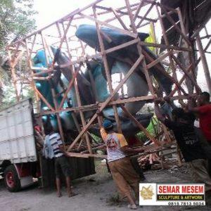 Kelik Studio Semar Mesem Patung Hewan Karimun Jawa Merlion Di Indonesia