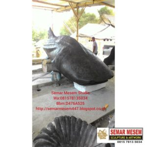 Kelik Studio Semar Mesem Patung Ikan Raksasa Karya Seni Rupa Patung