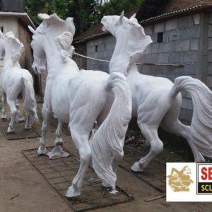 Kelik Studio Semar Mesem Patung Kuda Kerajinan Patung Bali