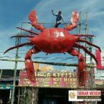 Produsen Patung Kepiting Raksasa Fiberglass – 081578135034