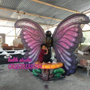 Cetak Patung Fiberglass Patung Manekin Membuat Patung Kupu Kupu