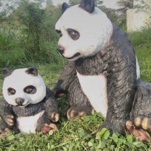 Patung Kartun Panda Patung Panda Patung Fiberglass Malang