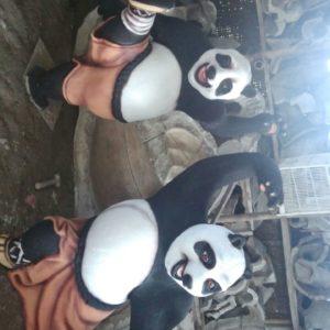 Pengrajin Patung Fiber Membuat Patung Fiber Patung Fiber Kungfu Panda