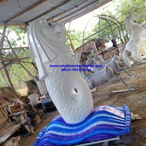 Menggambar Patung Merlion Pembuatan Patung Merlion
