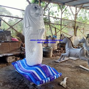Patung Merlion Di Bekasi Patung Merlion Citraland Surabaya Pembuat Patung Fiber