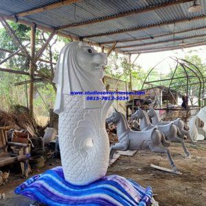 Patung Merlion Di Kalimantan Patung Singa Atau Merlion Pengrajin Patung Fiber Bogor