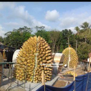 Patung Besar Replika Durian Replika Durian 3d