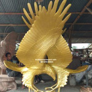 Patung Burung Gold Patung Emas Burung Pajangan Patung Burung