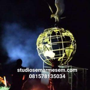 Bikin Globe Maskot Globe Bola Dunia
