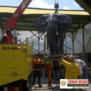 Kelik Studio Semar Mesem Patung Gajah Karya Patung