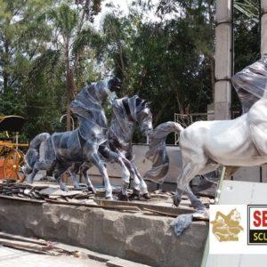 Kelik Studio Semar Mesem Patung Kuda Perunggu Tembaga Kerajinan Tembaga Dan Kuningan