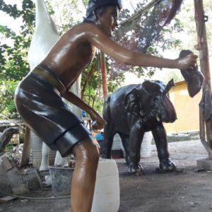 Kelik Studio Semar Mesem Patung Orang Contoh Patung Dari Plastisin