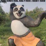 Patung Panda Kartun Fiberglass/081578135034