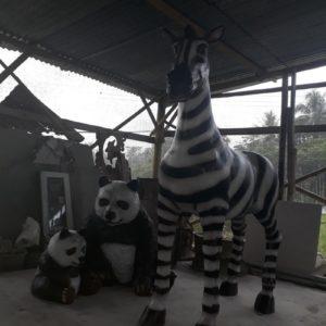 Kelik Studio Semar Mesem Patung Zebra Proses Pembuatan Patung Fiberglass