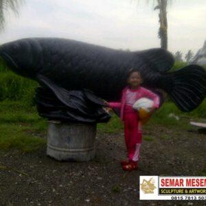Kelik Studio Semar Mesem Patung Ikan Arwana Waterboom Surabaya