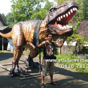 Bikin Patung Dino Cetak Patung Dinosaurus Patung Compsognathus