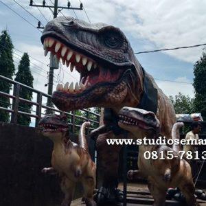 Patung Batu Muntilan Patung Dinosaurus Set Patung Dino