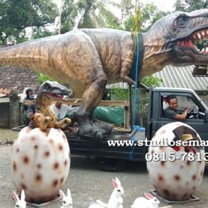 Patung Dinosaurus Komplit Patung Cetak Dino Resin Patung Taman Wisata