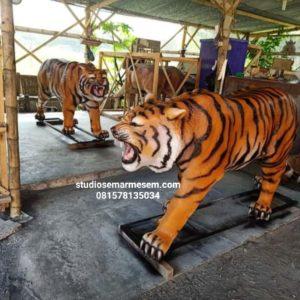 Patung Harimau Fiberglass Patung Harimau Jawa Patung Harimau Lucu