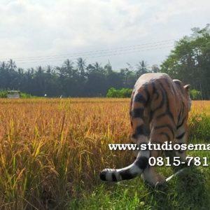 Patung Macan Koramil Lucu Patung Macan Kodam Siliwangi Patung Harimau Lucu