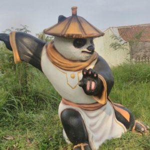 Patung Panda Fiberglass Patung Kungfu Panda Pengrajin Patung Fiber Bogor
